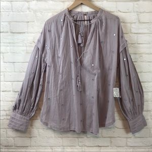 NWT Free People Peasant / Tunic summer Blouse